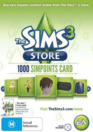 The Sims 3 1000 Sims Points Card
