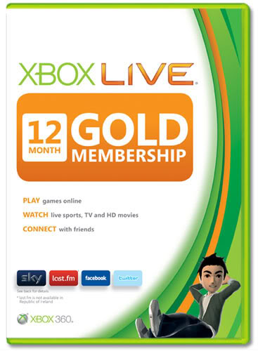 Xbox 360 12 month Gold Membership