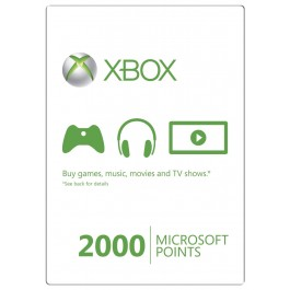 Xbox 360 2000 Microsoft Points